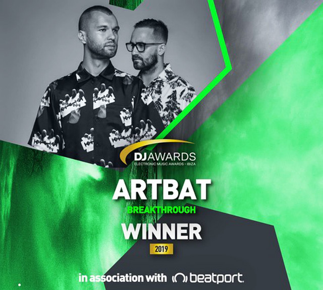 Ukranian duo ARTBAT pick up Best Breakthrough Artists at Ibiza DJ Awards 2019